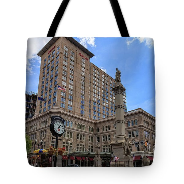 Soldiers Monument In Penn Square In Lancaster Pa Tote Bag
