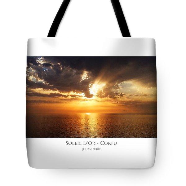 Soleil D'or - Corfu Tote Bag