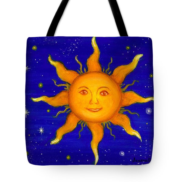 Tote Bag featuring the painting Soleil by Sandra Estes