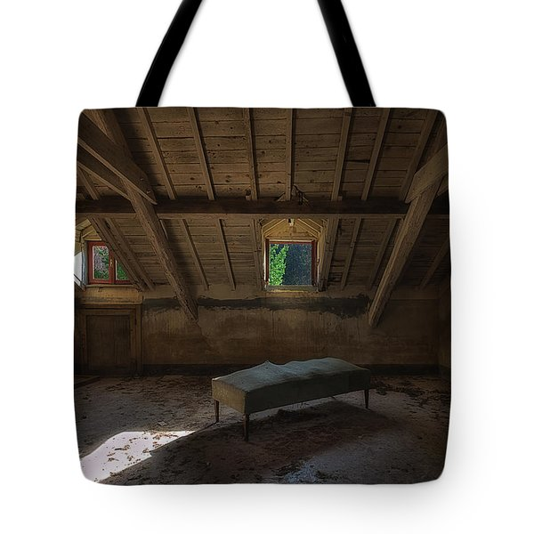 Solitary Bed Under The Roof  - Letto Solitario Sotto Il Tetto Tote Bag