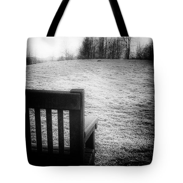 Solitary Bench In Winter Tote Bag