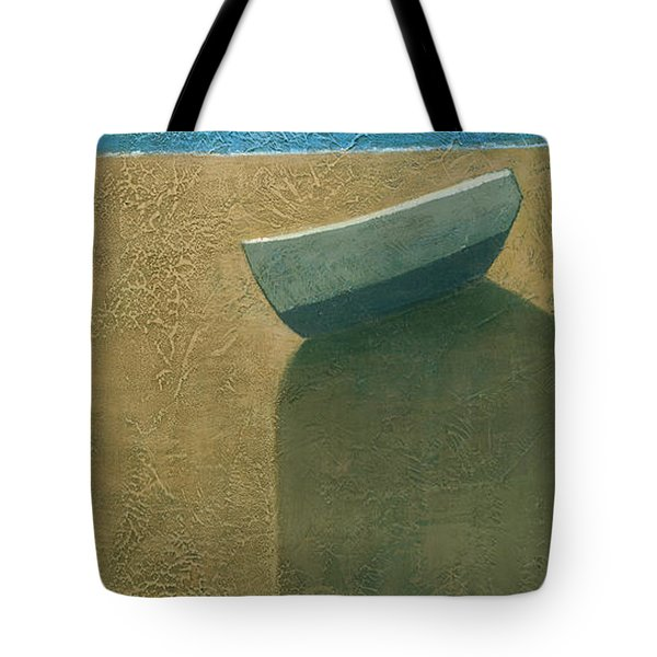 Solitary Boat Tote Bag by Steve Mitchell
