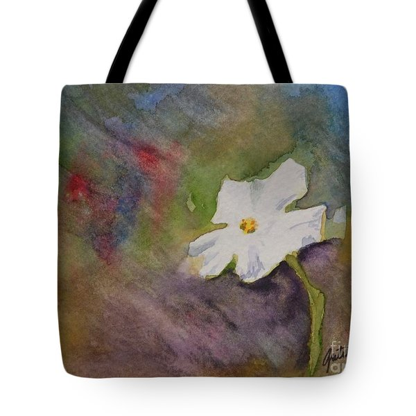 Solitary Flower Tote Bag by Gretchen Bjornson