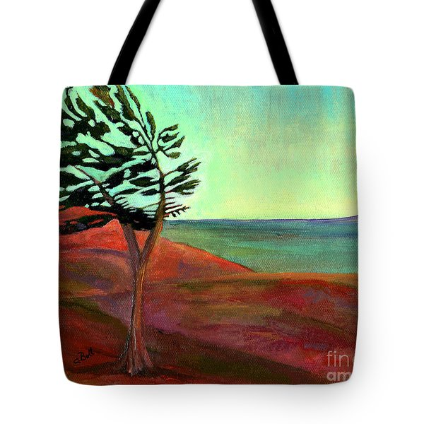Solitary Pine Tote Bag by Claire Bull