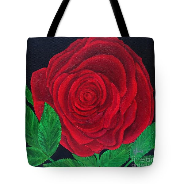 Solitary Red Rose Tote Bag