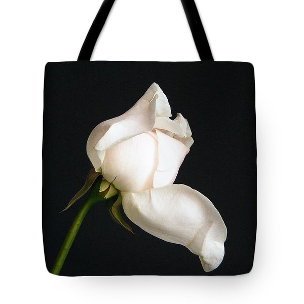 Tote Bag featuring the photograph Solitary Rosebud by Margie Avellino