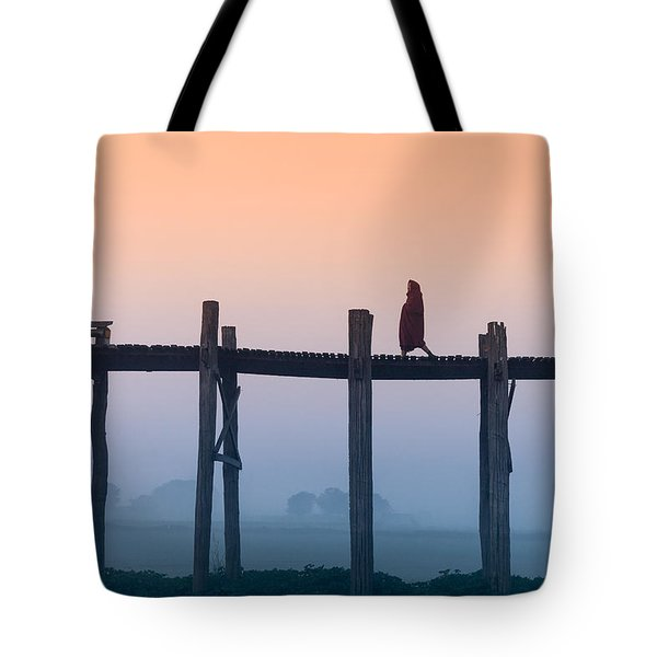 Solitary Walk Tote Bag by Marji Lang