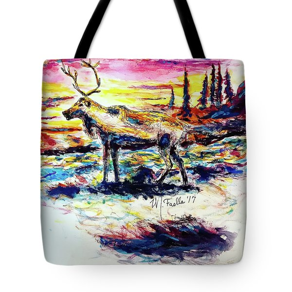 Solitude Caribou Tote Bag