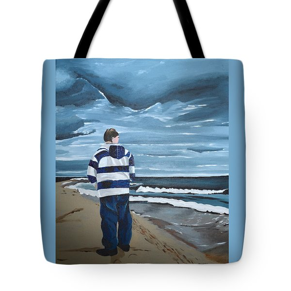 Tote Bag featuring the painting Solitude by Donna Blossom