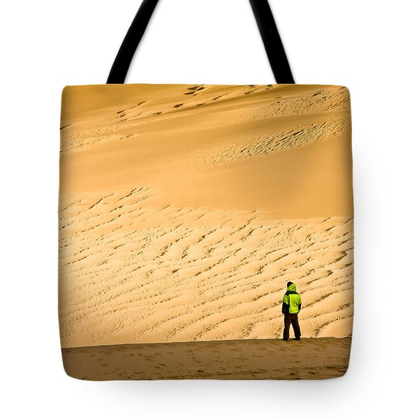 Tote Bag featuring the photograph Solitude In The Dunes by Rikk Flohr
