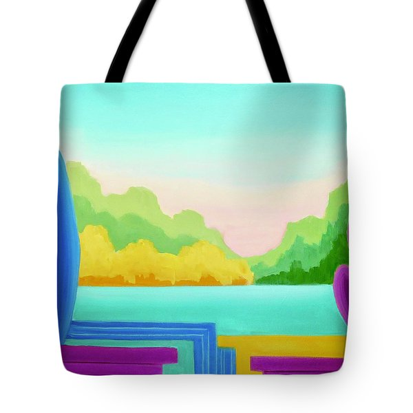 Tote Bag featuring the painting Solitude by Irene Hurdle