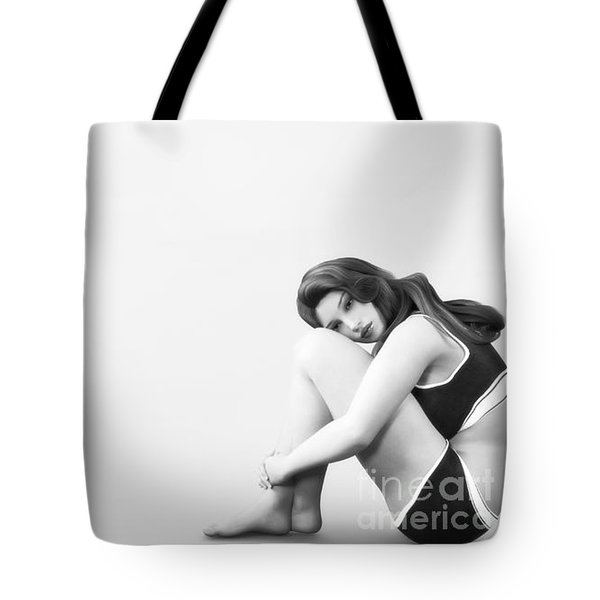 Tote Bag featuring the digital art Solitude by Methune Hively