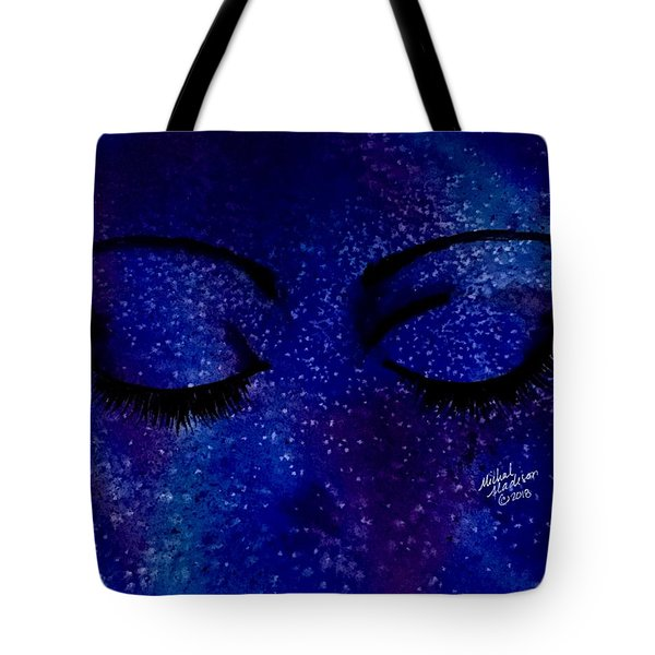 Tote Bag featuring the painting Solitude by Michal Madison