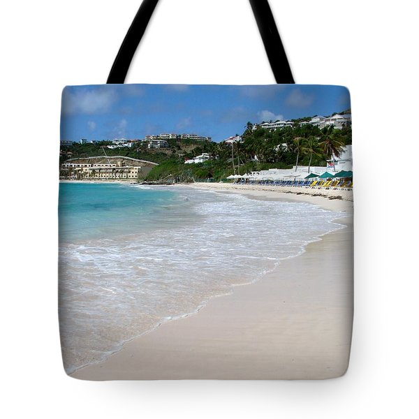 Solitude On Dawn Beach Tote Bag by Margaret Bobb