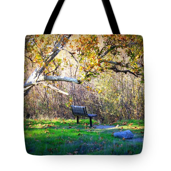Solitude Under The Sycamore Tote Bag