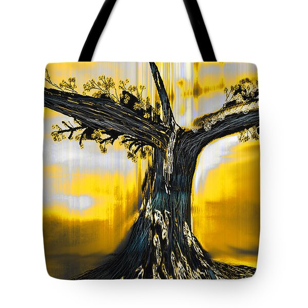 Tote Bag featuring the digital art Solitude by Yul Olaivar