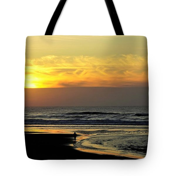 Solo Sunset On The Beach Tote Bag