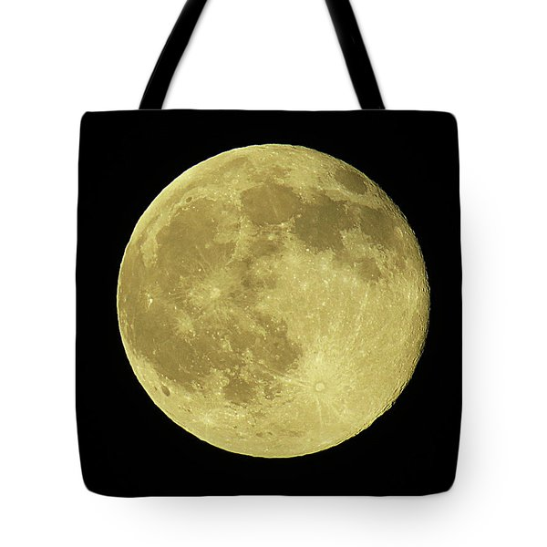Tote Bag featuring the digital art Solstice Moon by Kathleen Illes