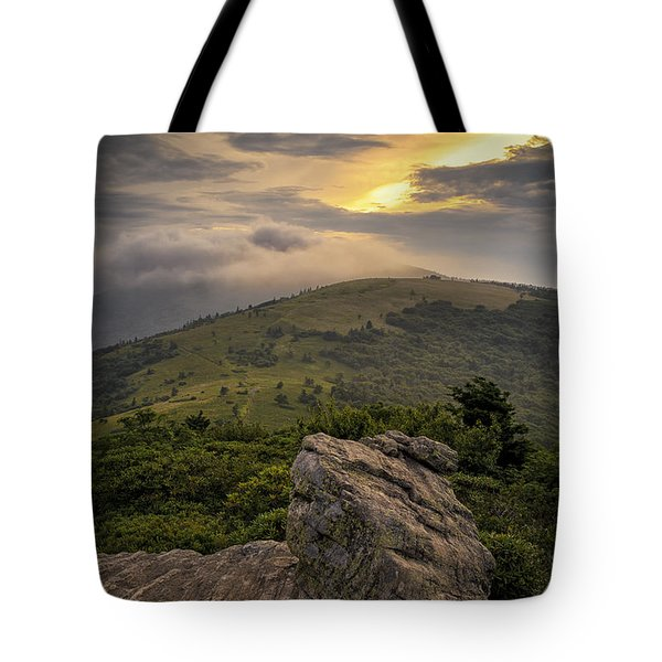 Rocky Sunset - Roan Mountain Tote Bag