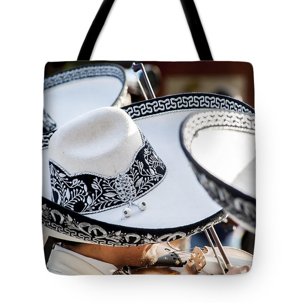 Sombrero And Music Tote Bag