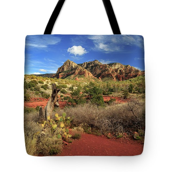 Some Cactus In Sedona Tote Bag by James Eddy