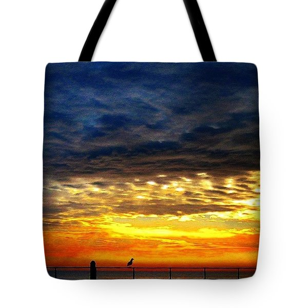 Colorful Sunrise Tote Bag by Lauren Fitzpatrick