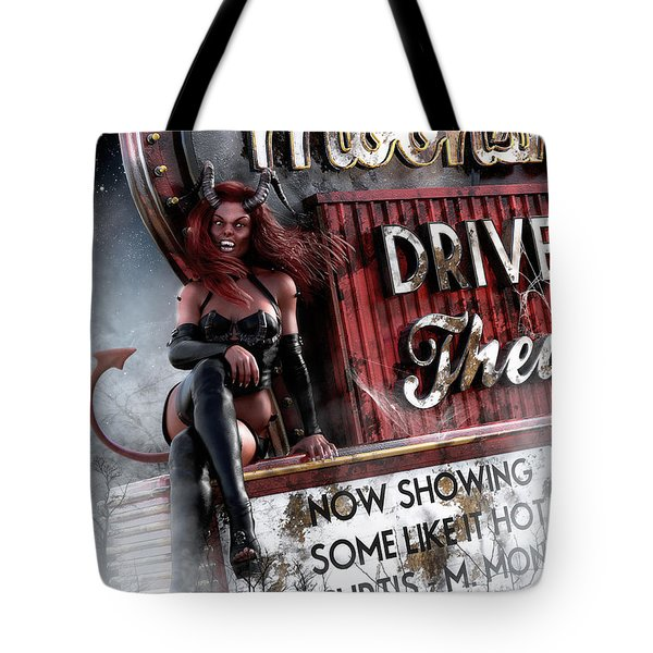 Tote Bag featuring the digital art Some Like It Hot by Shanina Conway