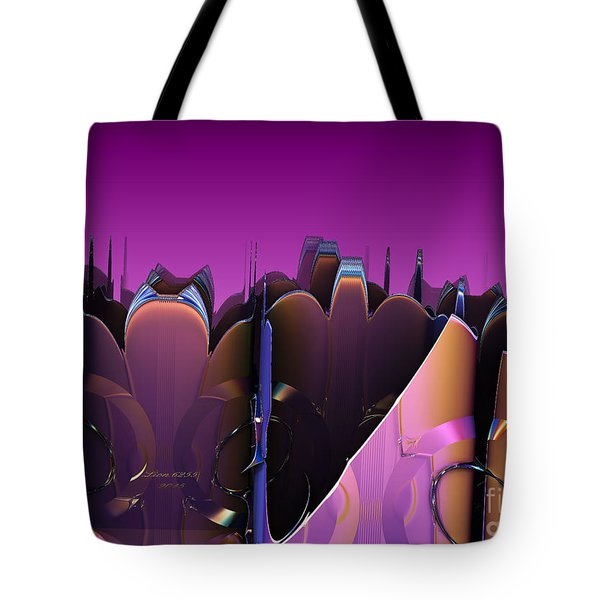 Tote Bag featuring the digital art Some Purple Petals by Melissa Messick