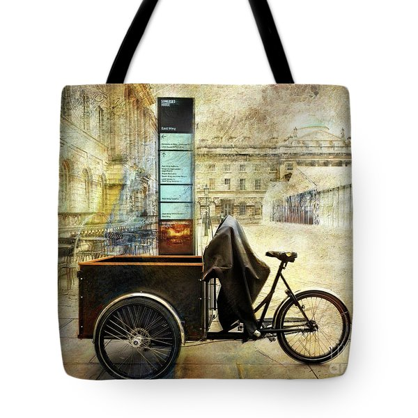Tote Bag featuring the photograph Somerset House Cart Bicycle by Craig J Satterlee