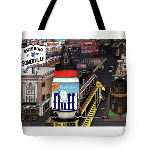 A Strange Day In Somerville  Tote Bag by Richie Montgomery