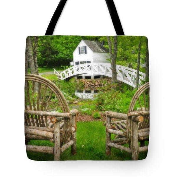 Somesville Maine - Arched Bridge Tote Bag