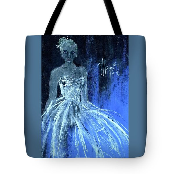 Tote Bag featuring the painting Something Blue by P J Lewis