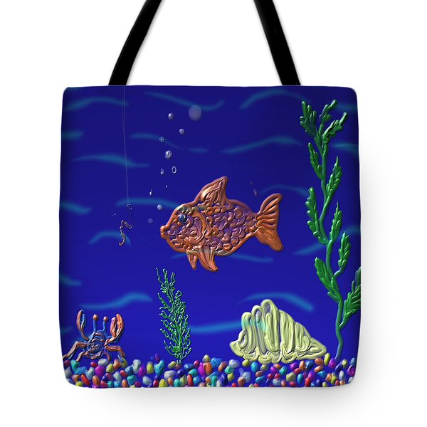 Something Fishy Tote Bag by Kevin Caudill