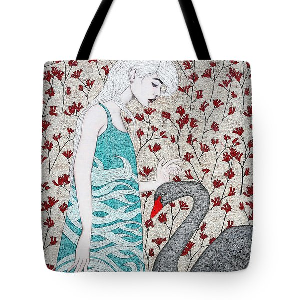 Tote Bag featuring the mixed media Something Magical by Natalie Briney