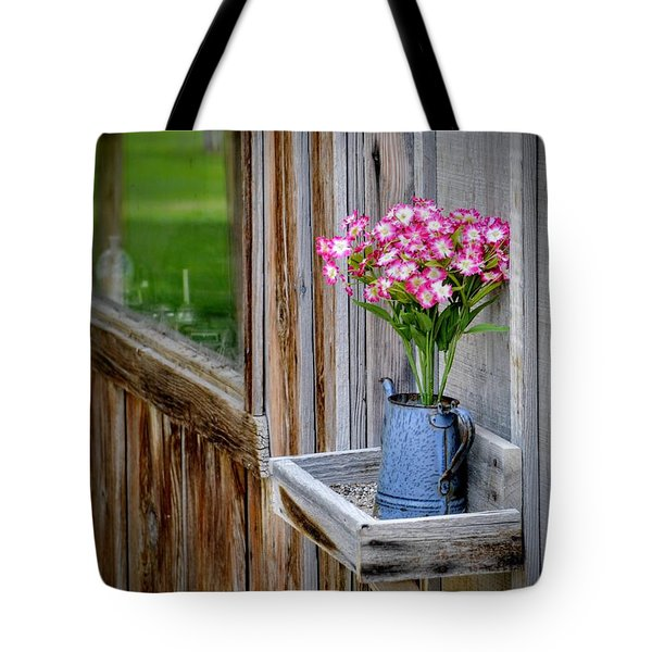Tote Bag featuring the photograph Something Old Something New by AJ Schibig