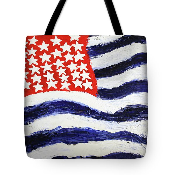 Tote Bag featuring the painting Something's Wrong With America by Thomas Blood