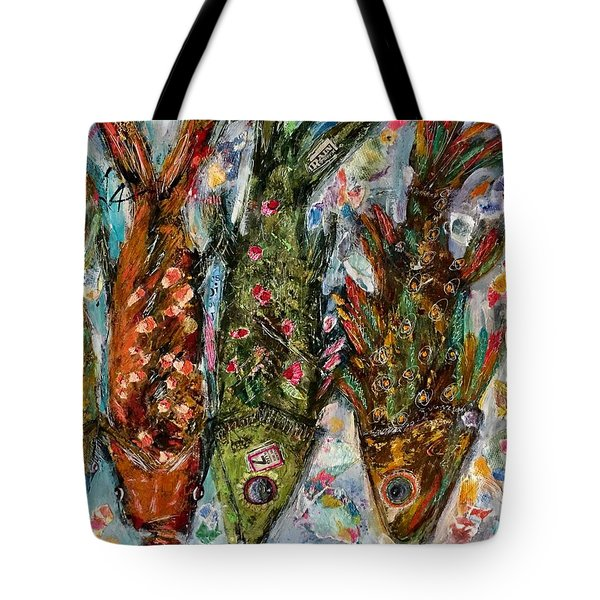 Somethin's Fishy Tote Bag by M Stuart
