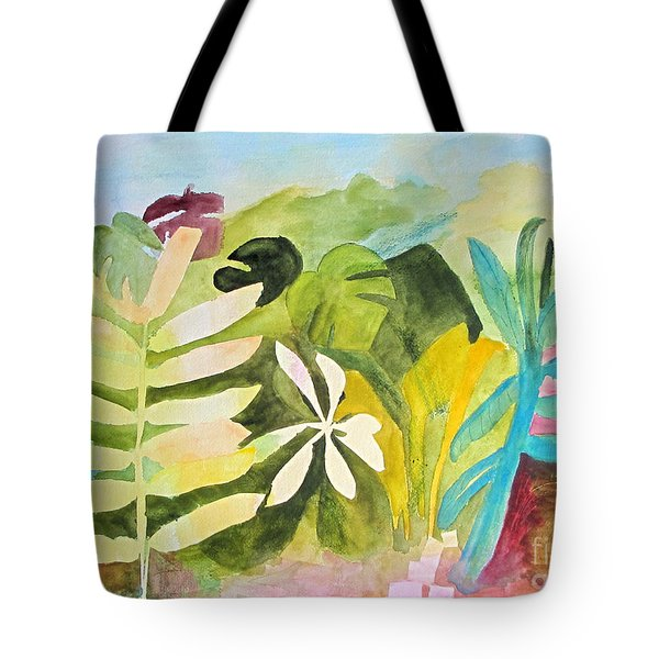 Tote Bag featuring the painting Sometimes I Miss The Tropics by Sandy McIntire