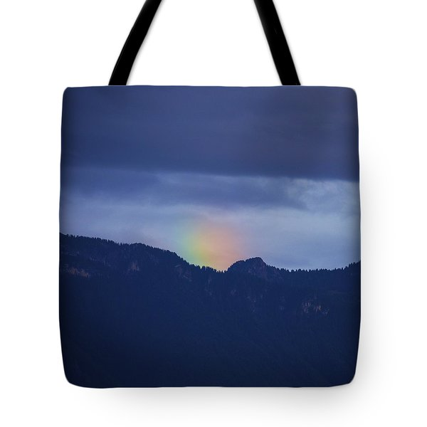 Sometimes The Rainbow Is On The Other Side Of The Mountain Tote Bag by Colleen Williams
