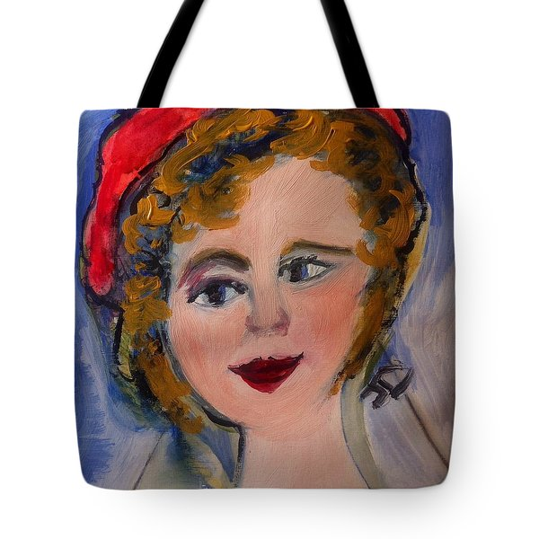 Sometimes You Got To Wear Your Beret  Tote Bag by Judith Desrosiers