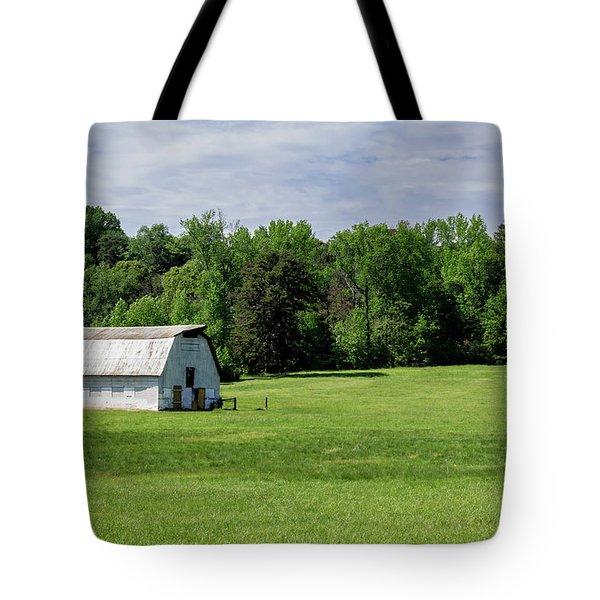 Barn In Green Pasture Tote Bag
