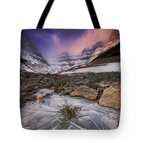 Somewhere In The Canadian Rockies Tote Bag