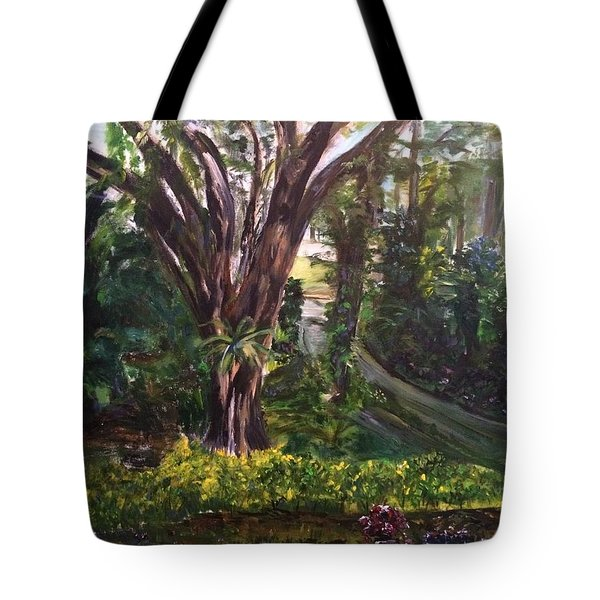 Somewhere In The Park Tote Bag by Belinda Low