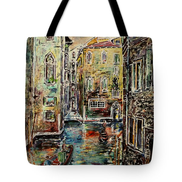 Somewhere In Venice Tote Bag