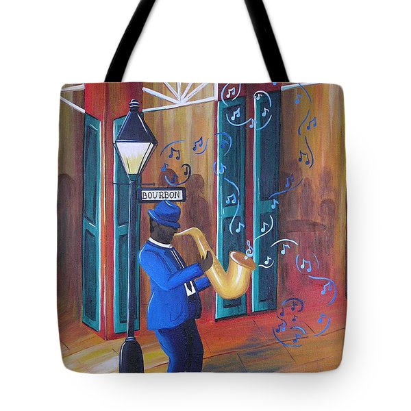 Somewhere On Bourbon Street Tote Bag
