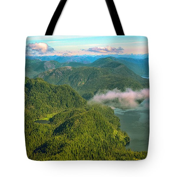 Tote Bag featuring the photograph Over Alaska - June  by Madeline Ellis