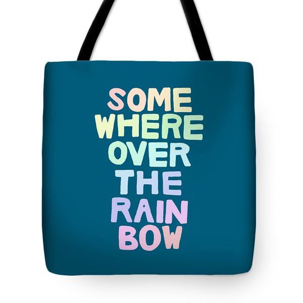Somewhere Over The Rainbow Tote Bag by Priscilla Wolfe