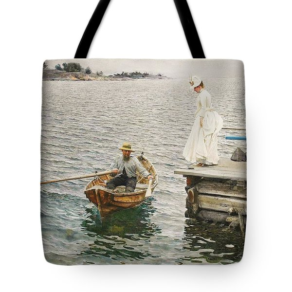 Sommer Vergnugen Tote Bag by Pg Reproductions