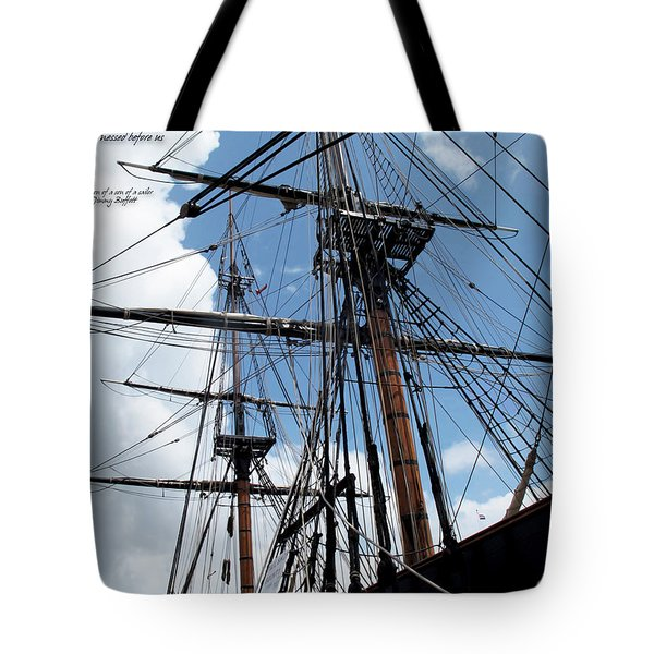 Son Of A Son Of A Sailor Quote - Tribute To The Bounty Tote Bag