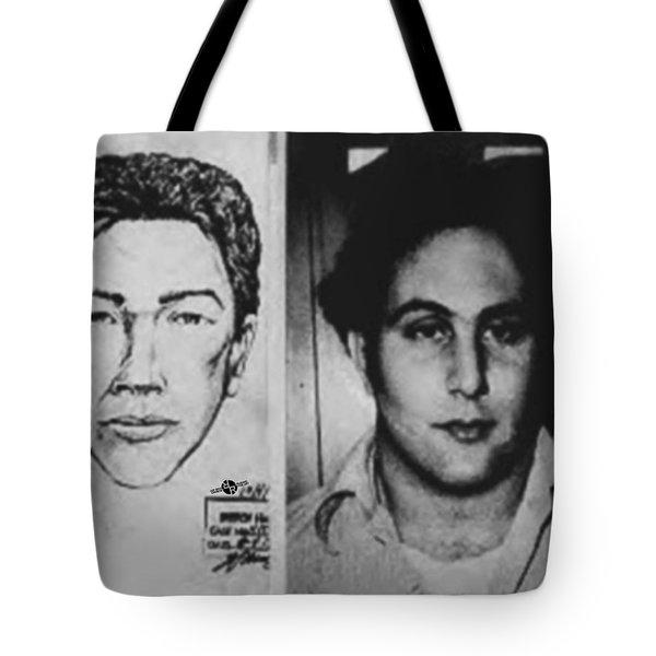 Son Of Sam David Berkowitz Mug Shot And Police Sketch Tote Bag